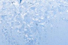 Beautiful frosty pattern on glass Stock Image