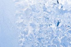 Beautiful frosty pattern on glass Stock Photography