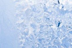 Beautiful frosty pattern on glass Stock Photography