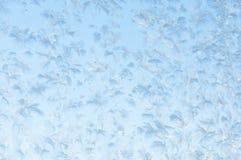 Beautiful frosty pattern on glass Stock Photos