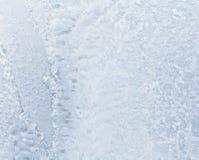 Beautiful frosty pattern on glass Royalty Free Stock Photo