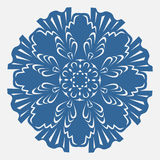 Beautiful frozen abstract christmas snowflake. Beautiful frozen abstract blue christmas snowflake decor Royalty Free Stock Image