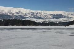 Beautiful frozen lake Stock Photo