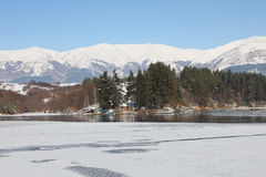 Beautiful frozen lake Stock Images