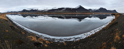Beautiful frozen lake, Iceland Stock Photos