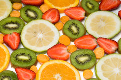 Beautiful fruit background Royalty Free Stock Photos