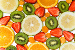 Beautiful fruit background Royalty Free Stock Photography