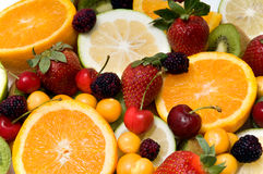 Beautiful fruit background Stock Image