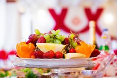 Beautiful fruit plate royalty free stock images
