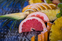 Beautiful fruit on the table, decor Stock Image