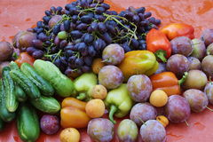 Beautiful fruit and vegetables Royalty Free Stock Images