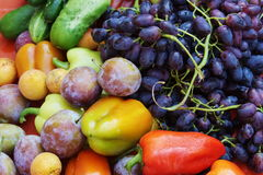 Beautiful fruit and vegetables Royalty Free Stock Photo