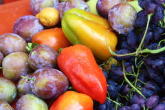 Beautiful fruit and vegetables Royalty Free Stock Photography