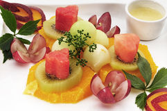 Beautiful fruits on the plate Royalty Free Stock Image