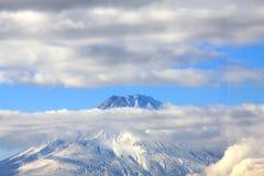 Beautiful fuji mountain in autumn with cloud Royalty Free Stock Photography