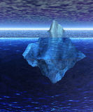 Beautiful Full Floating Iceberg in the Open Ocean. With Horizon Stock Photo