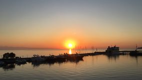 Beautiful full HD timelapse video of a summer sunrise over the city of Zakynthos, Greece.  stock footage