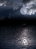 Beautiful full moon Royalty Free Stock Photography