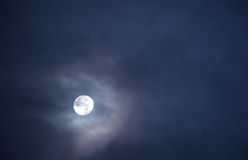 Beautiful full moon in a sky full of clouds 3. Beautiful full moon in a sky full of clouds Royalty Free Stock Images