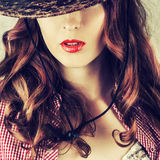 Beautiful full red lips Royalty Free Stock Photo