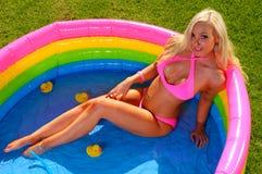 Beautiful fun bikini girl Royalty Free Stock Images