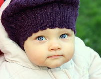 Beautiful funny baby in hat Royalty Free Stock Image