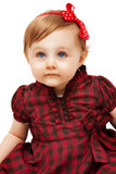 Beautiful funny little girl with blue eyes Stock Photos