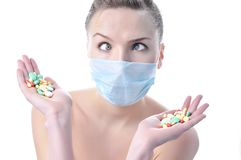 Beautiful  funny nurse in a mask Stock Photo