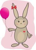 Beautiful funny Rabbit with heart Stock Image