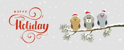Owl holiday stock photo