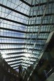 Beautiful futiristic roof design reflections Stock Photo