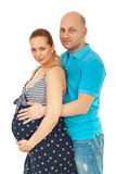 Beautiful future parents couple Stock Image