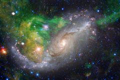 Beautiful galaxy and cluster of stars in the space night. Elements of this image furnished by NASA royalty free stock photos