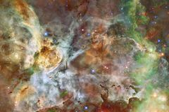 Beautiful galaxy and cluster of stars in the space night. Elements of this image furnished by NASA stock image