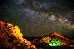 Beautiful Galaxy. This is in Inner Mongolia, China, I took the photo of the stars Royalty Free Stock Photos