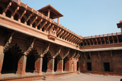 Beautiful galleries inside Agra Red fort,India Royalty Free Stock Photo