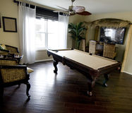 Beautiful game room area in new home Stock Photos