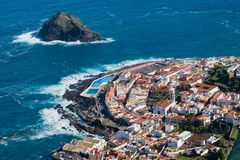 Garachico city, arieal view, Tenerife, Spain royalty free stock image