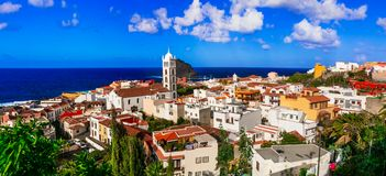 Landmarks of Tenerife - colorful town Garachico. Canary islands Stock Photography