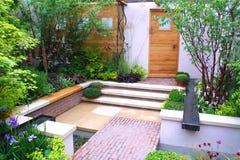 Beautiful garden stock photos