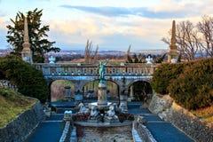 Beautiful garden of Castle Roseburg Stock Photography