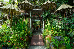Beautiful garden entrance Royalty Free Stock Image