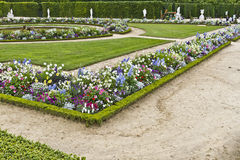 Beautiful garden in a Famous palace Versailles Royalty Free Stock Photos