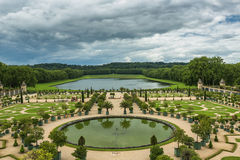 Beautiful garden in a Famous palace Versailles, France Royalty Free Stock Image