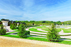 Beautiful garden in a Famous palace Versailles Royalty Free Stock Image