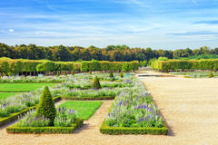 Beautiful garden in a Famous palace Versailles Royalty Free Stock Photography