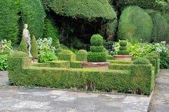Beautiful Garden. Beautiful Formal Garden Scene with Verdant Topiary Parterre Stock Photography