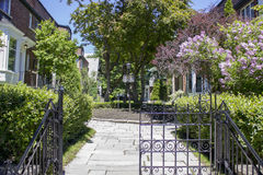 Beautiful garden gate entrance Stock Photos