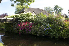 Beautiful garden in Giethoorn Royalty Free Stock Photo