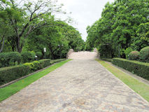 Beautiful Garden. Green Lawn in Landscaped Formal Garden.Park ar Royalty Free Stock Images